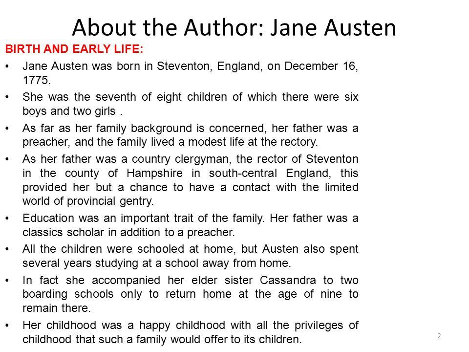 About the Author: Jane Austen
