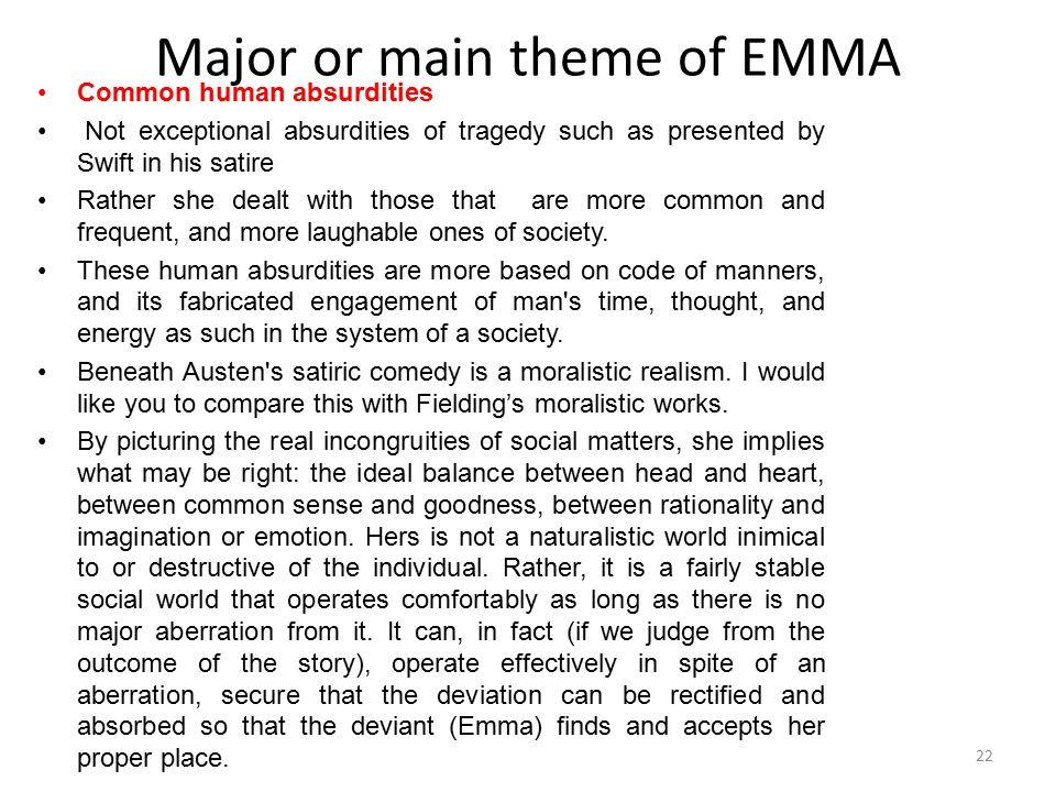 Major or main theme of EMMA