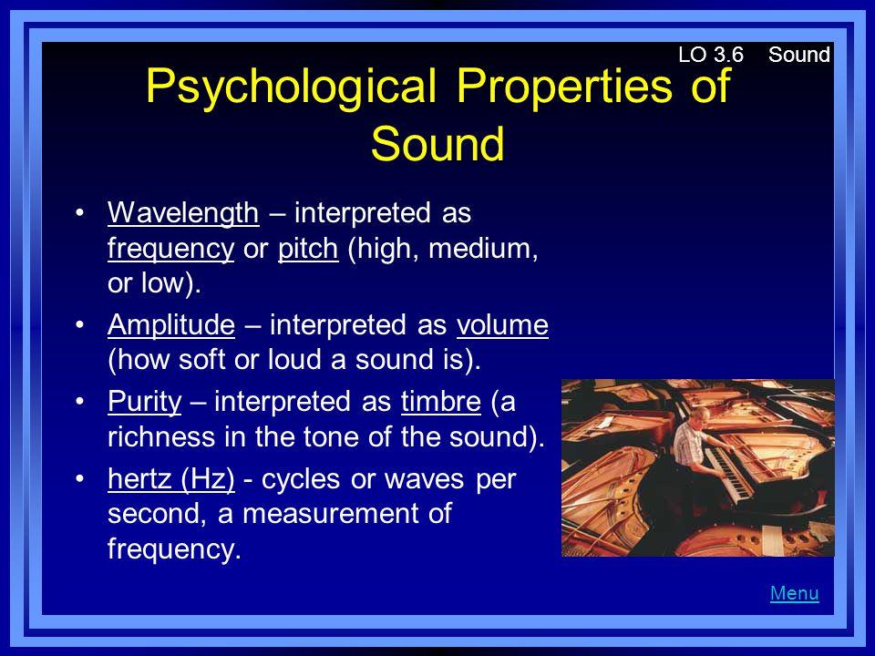 Psychological Properties of Sound