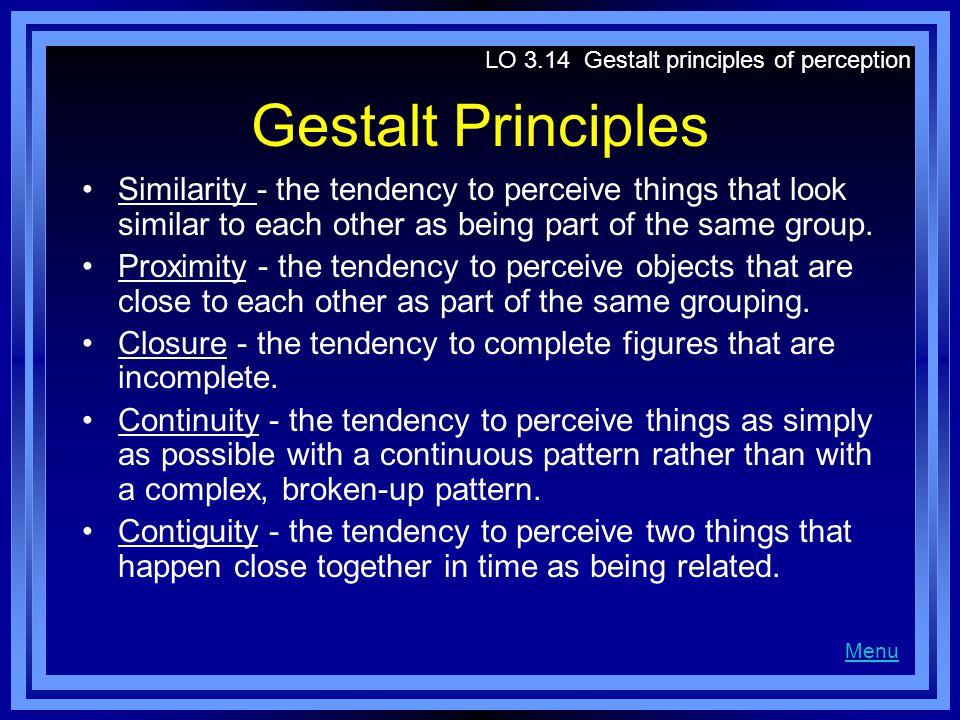 LO 3.14 Gestalt principles of perception