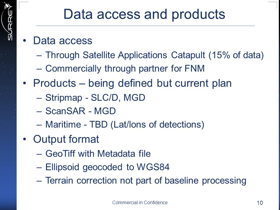 Data access and products