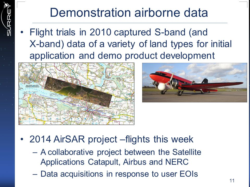 Demonstration airborne data
