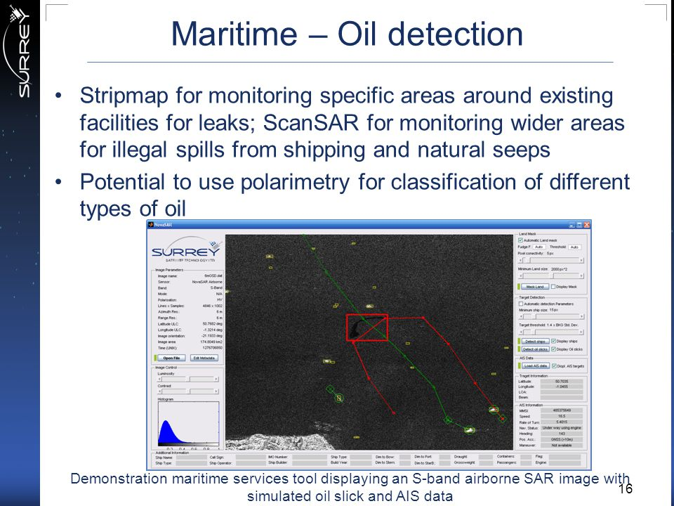 Maritime – Oil detection
