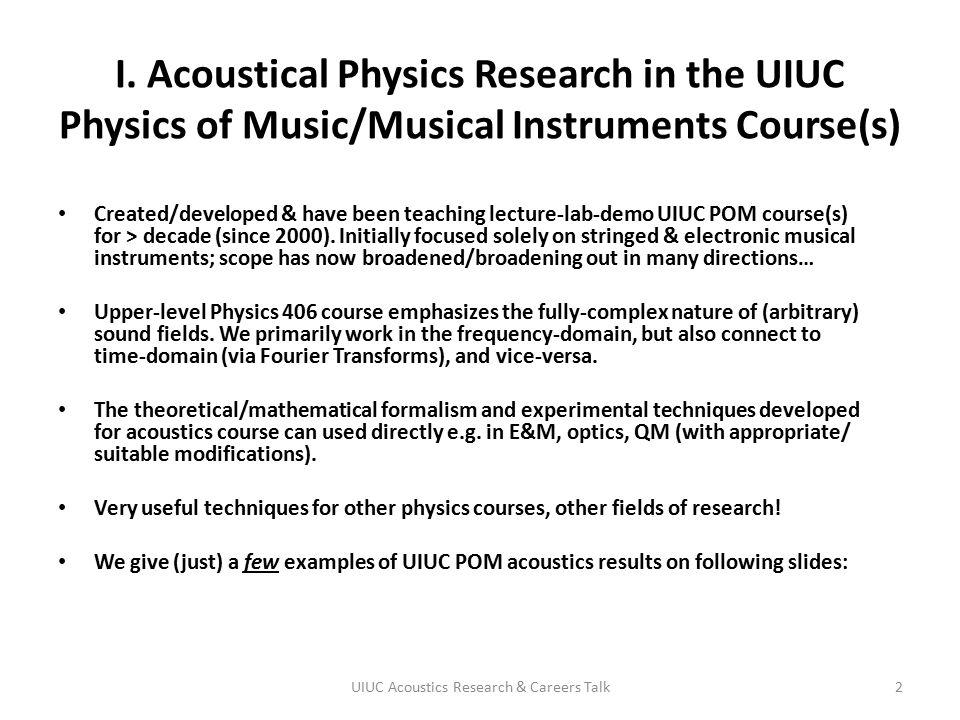 UIUC Acoustics Research & Careers Talk