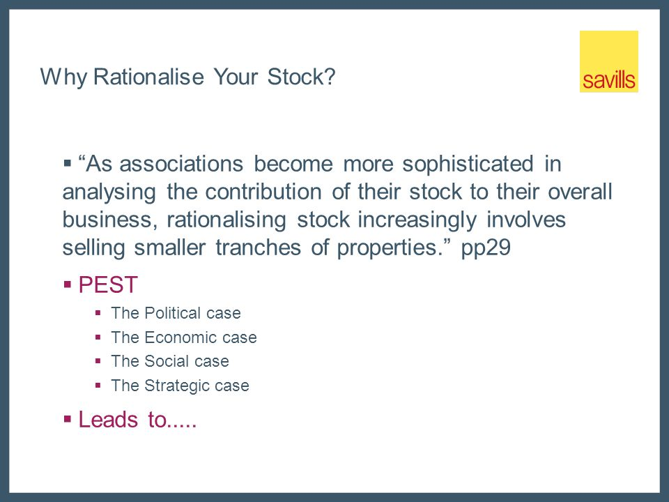 Why Rationalise Your Stock