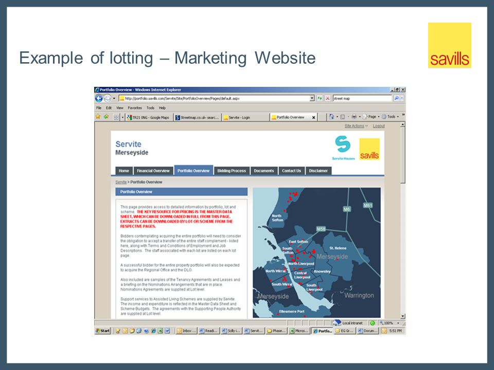 Example of lotting – Marketing Website