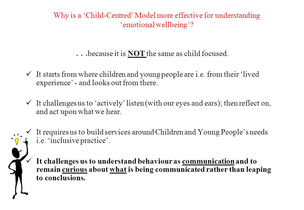 Are you 'Child-focused' or 'Child-centred'