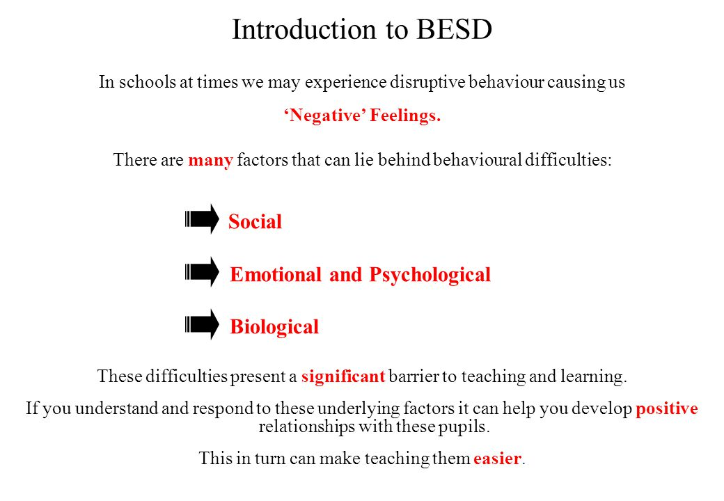 What are Behavioural Emotional and Social Difficulties