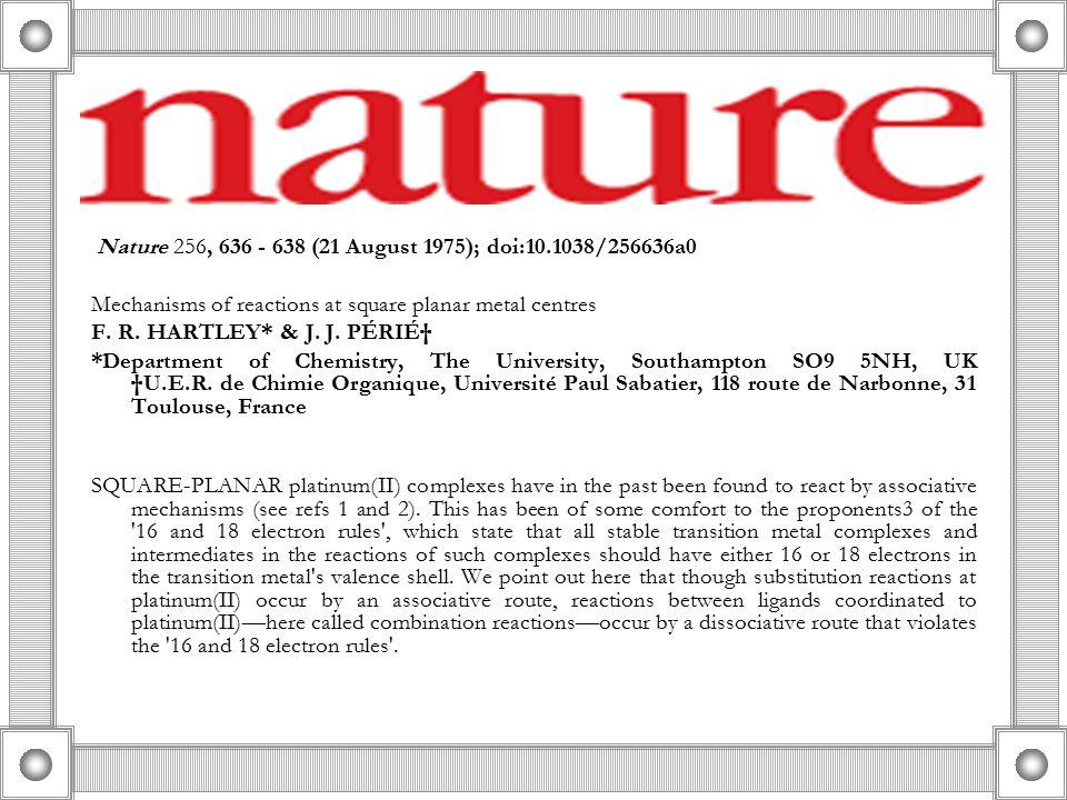 Nature 256, 636 - 638 (21 August 1975); doi:10.1038/256636a0