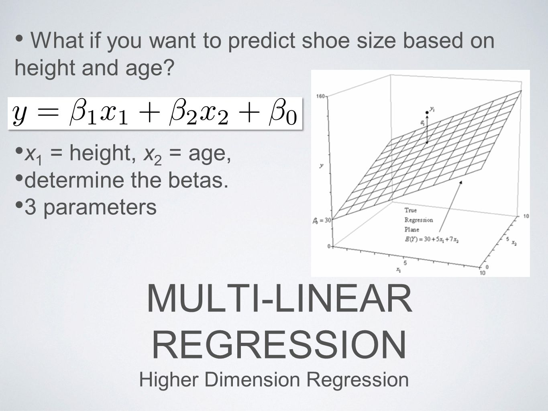 MUlti-Linear Regression