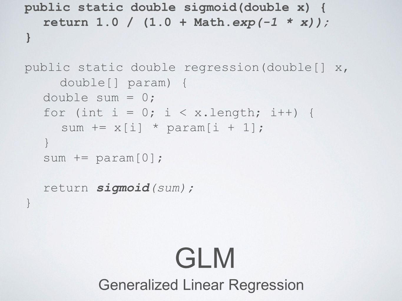 Generalized Linear Regression