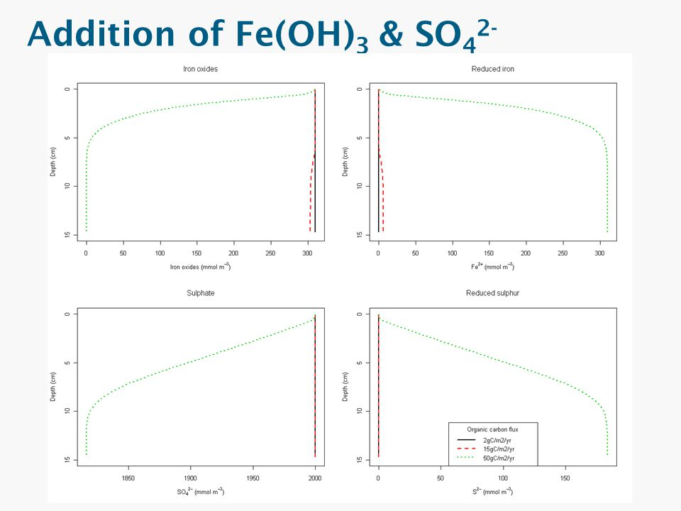 Addition of Fe(OH)3 & SO42-