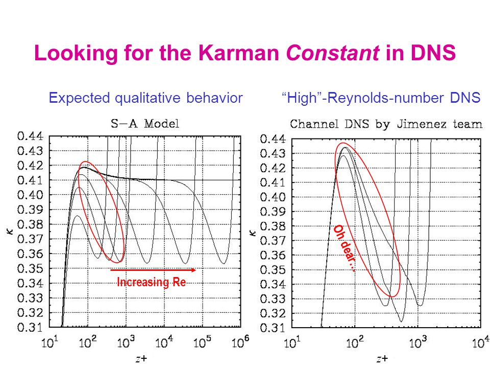 Looking for the Karman Constant in DNS