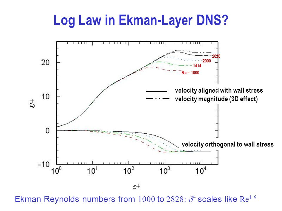 Log Law in Ekman-Layer DNS