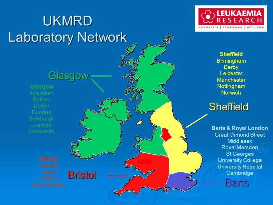 UKMRD Laboratory Network Glasgow Sheffield Bristol Barts Birmingham