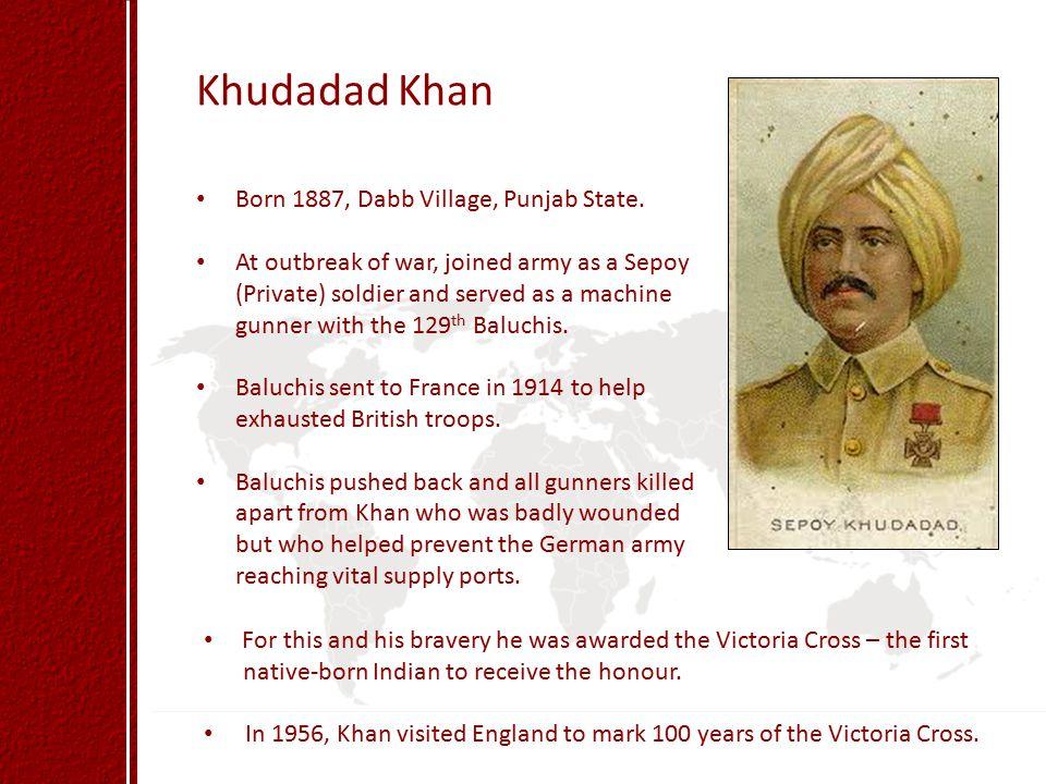 Khudadad Khan Born 1887, Dabb Village, Punjab State.