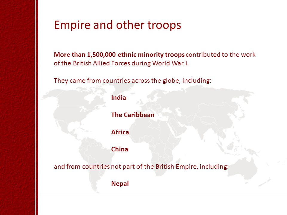 Empire and other troops