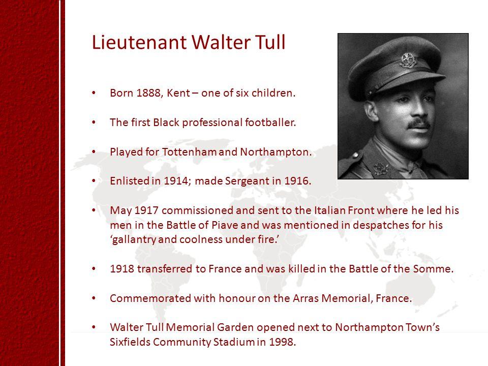 Lieutenant Walter Tull