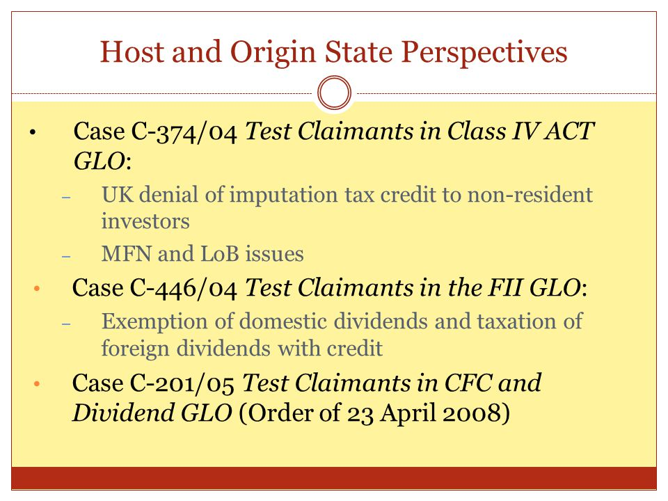 Host and Origin State Perspectives