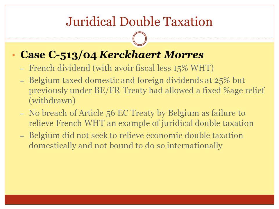 Juridical Double Taxation