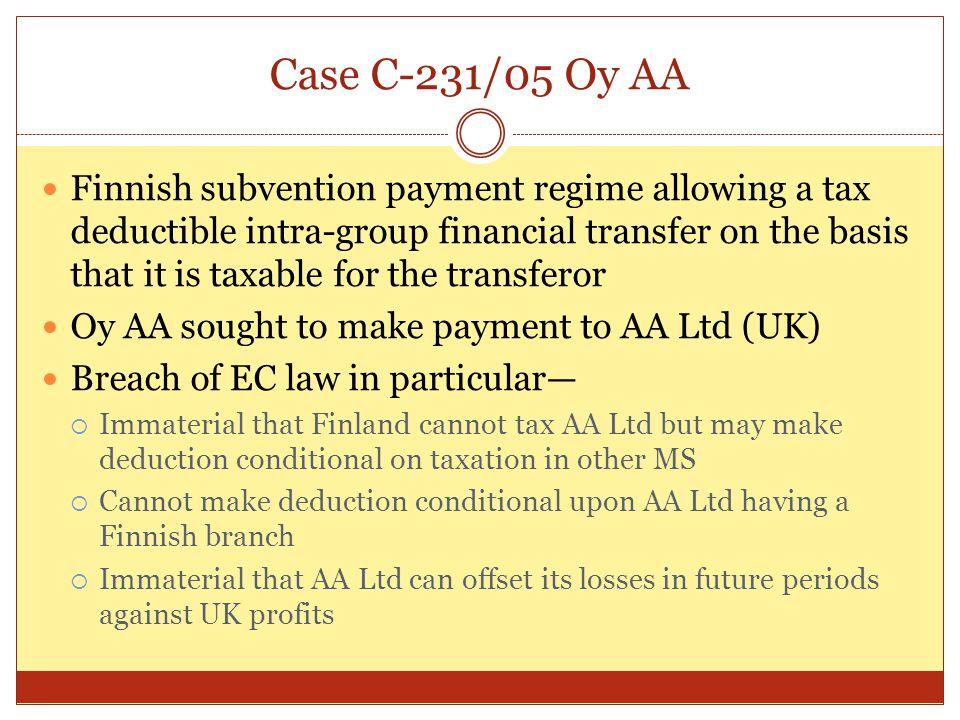 Case C-231/05 Oy AA