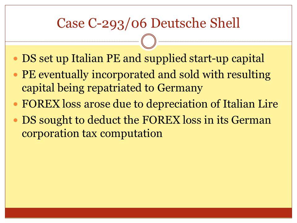 Case C-293/06 Deutsche Shell