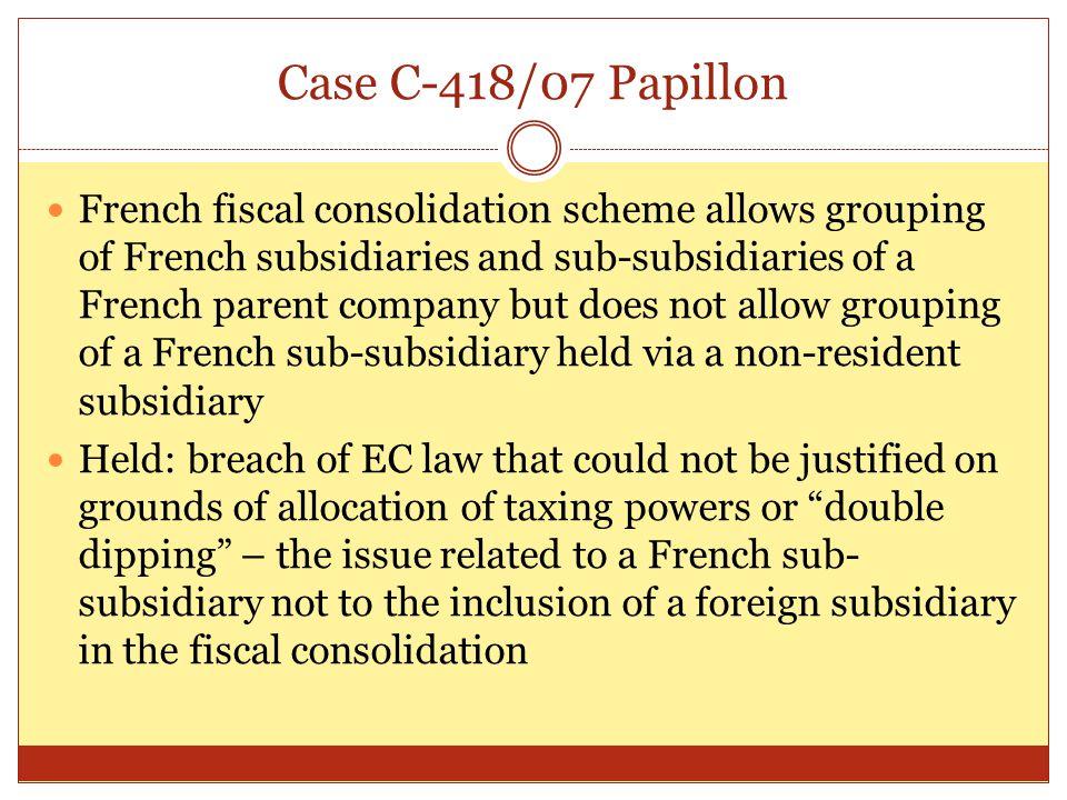 Case C-418/07 Papillon