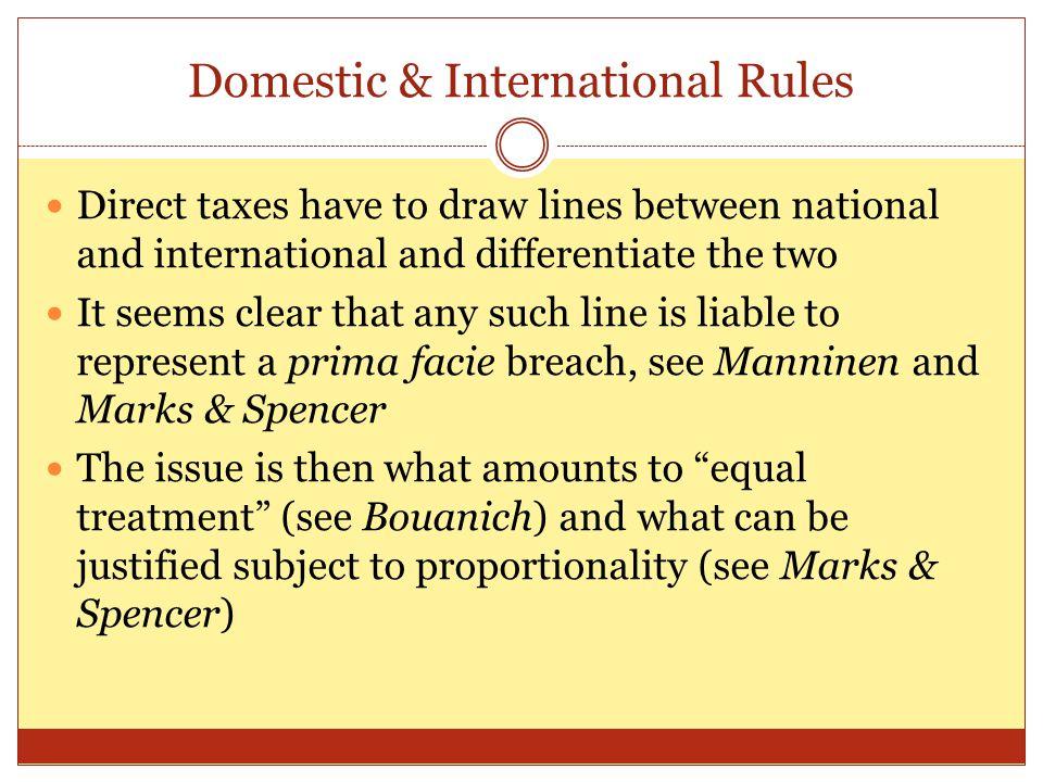 Domestic & International Rules
