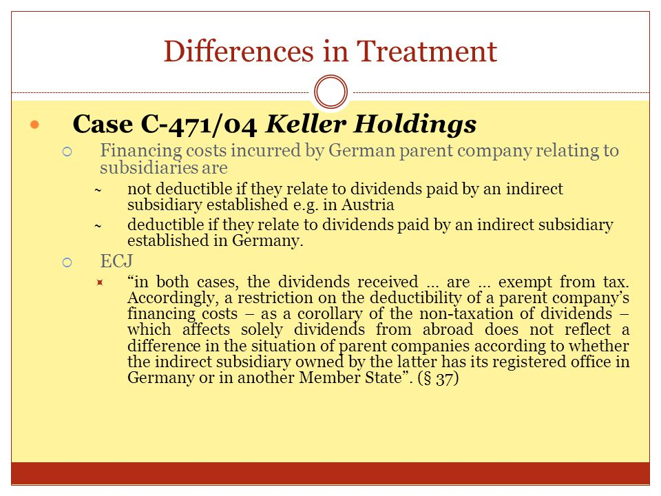 Differences in Treatment