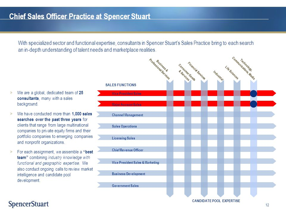 Chief Sales Officer Practice at Spencer Stuart