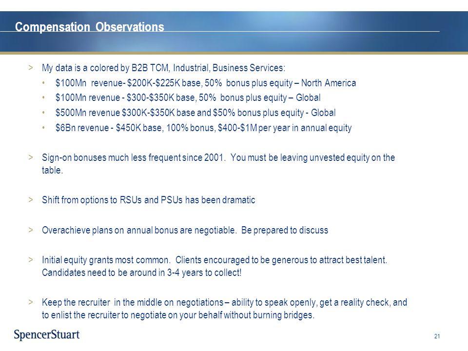 Compensation Observations