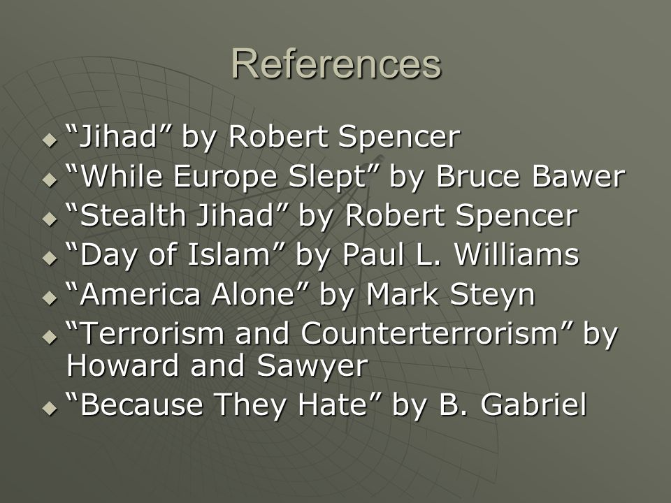 References Jihad by Robert Spencer