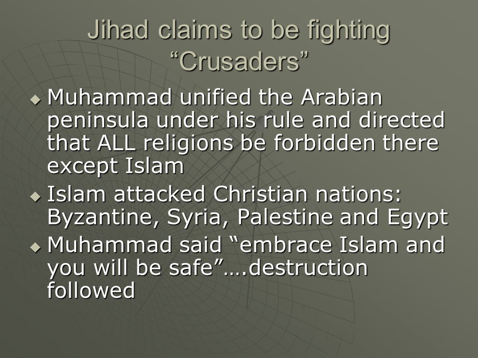 Jihad claims to be fighting Crusaders