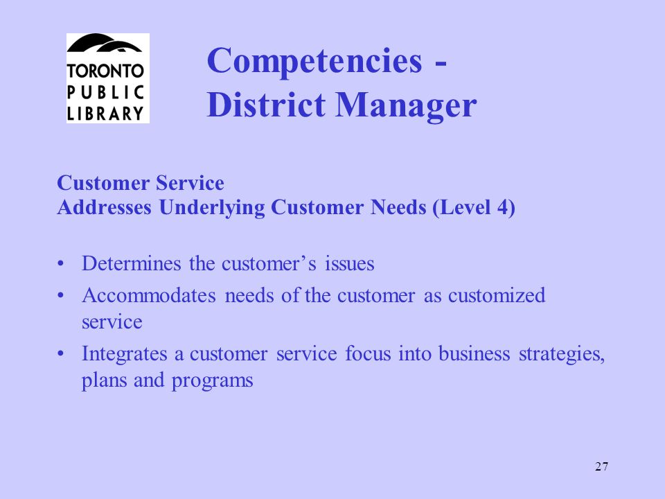 Competencies - District Manager