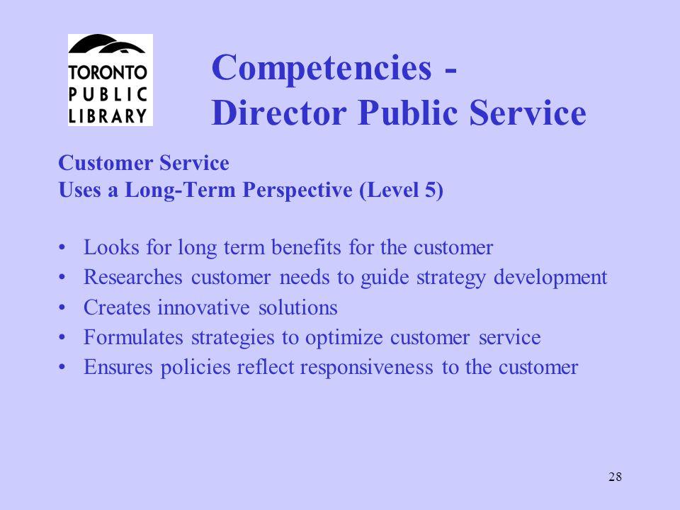 Competencies - Director Public Service