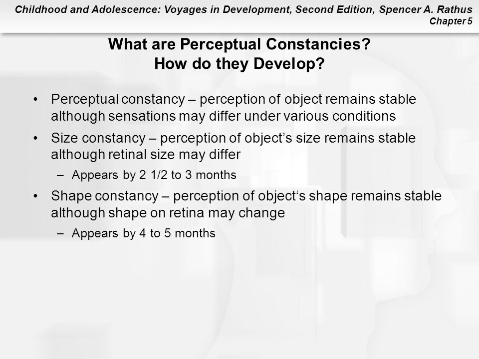 What are Perceptual Constancies How do they Develop