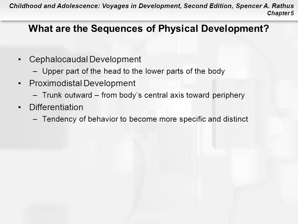 What are the Sequences of Physical Development