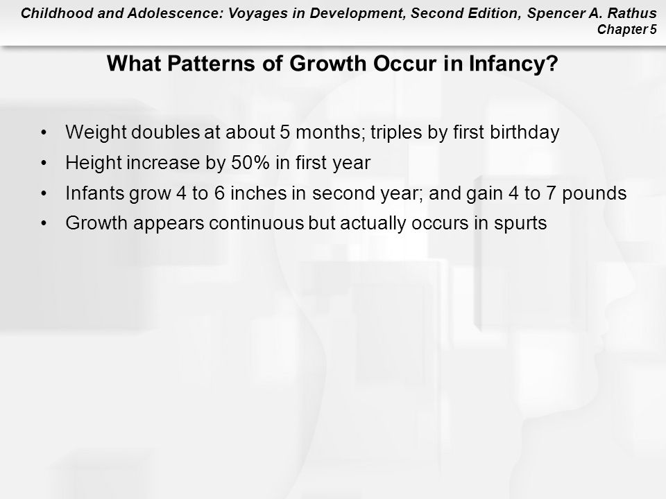 What Patterns of Growth Occur in Infancy