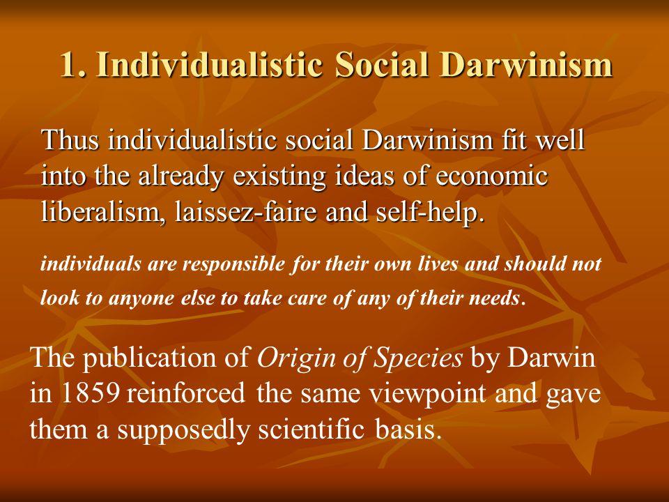 1. Individualistic Social Darwinism