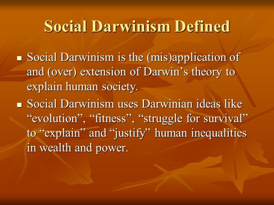 Social Darwinism Defined