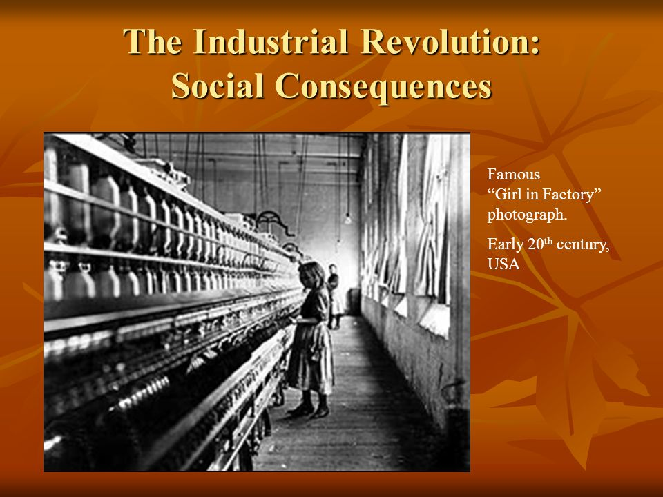 The Industrial Revolution: Social Consequences