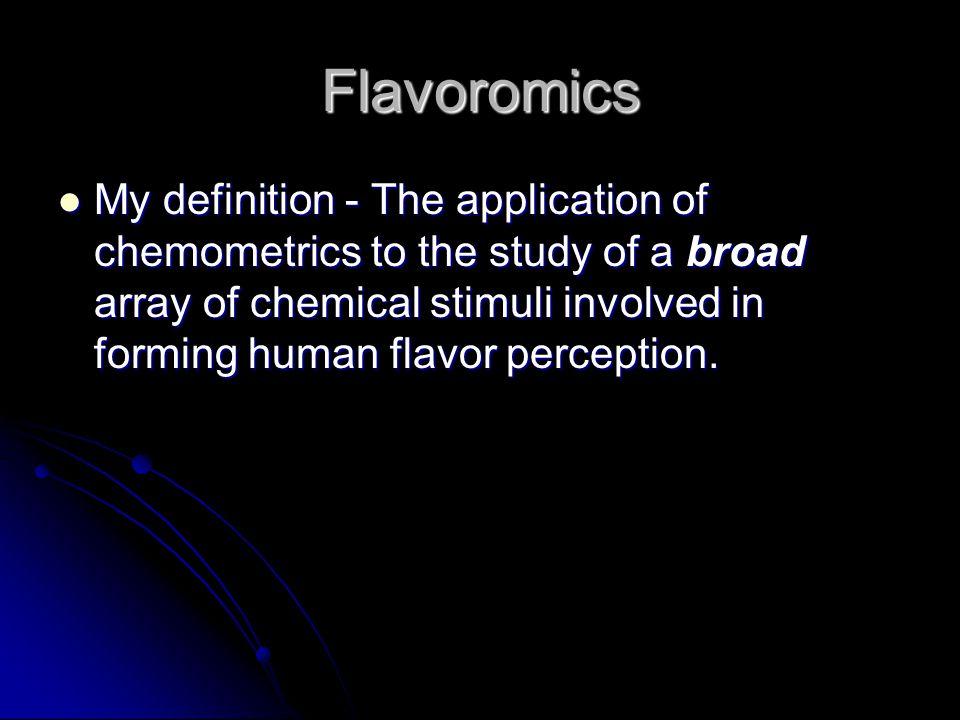 Flavoromics