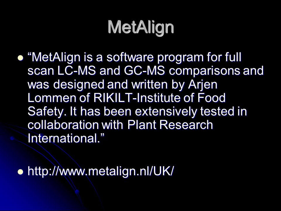 MetAlign