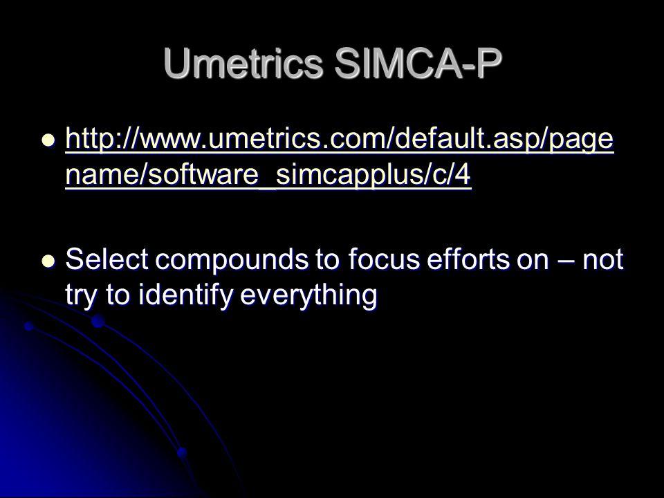 Umetrics SIMCA-P http://www.umetrics.com/default.asp/pagename/software_simcapplus/c/4.