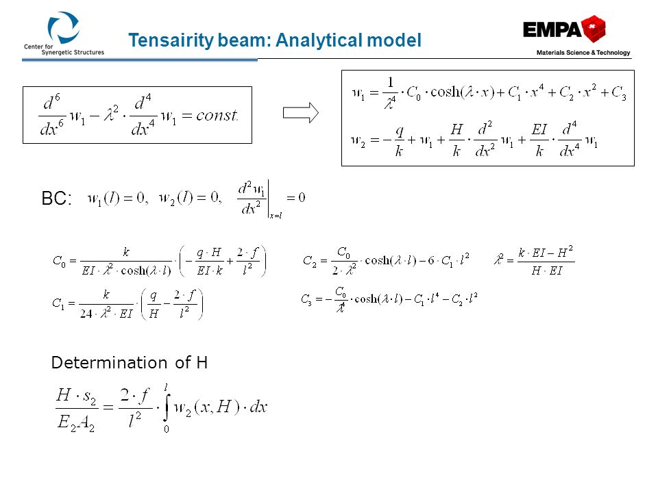 Tensairity beam: Analytical model