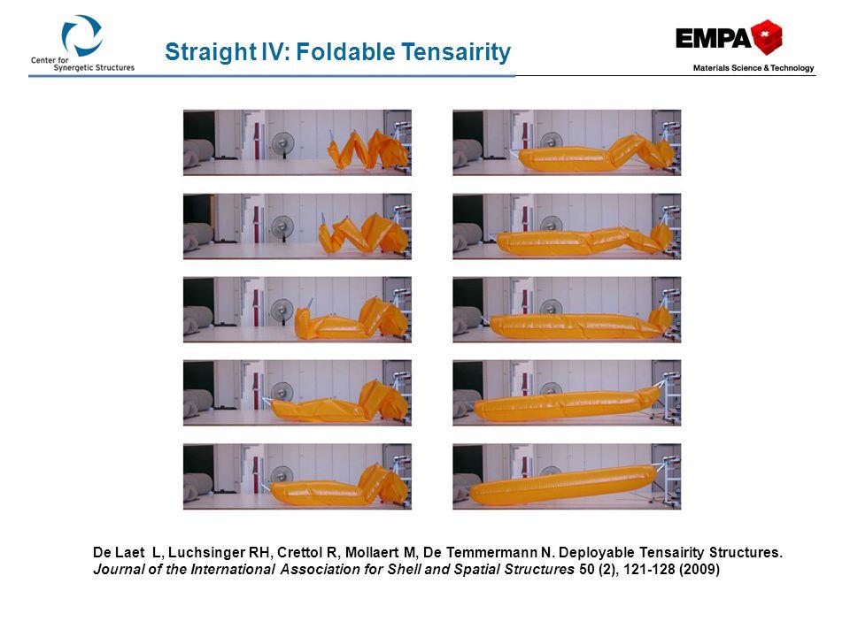 Straight IV: Foldable Tensairity
