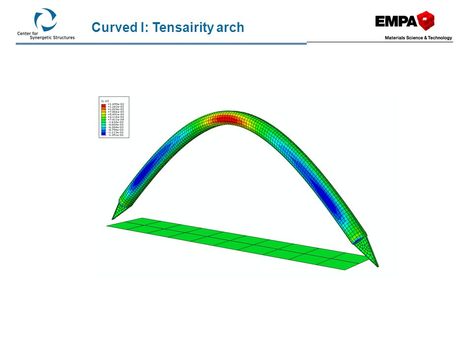 Curved I: Tensairity arch