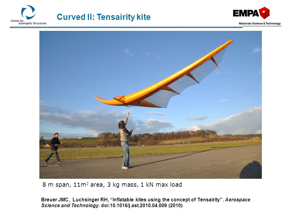 Curved II: Tensairity kite