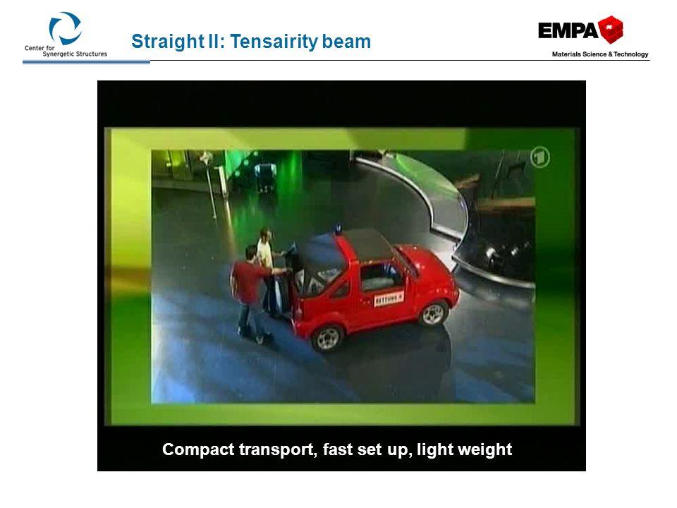 Straight II: Tensairity beam