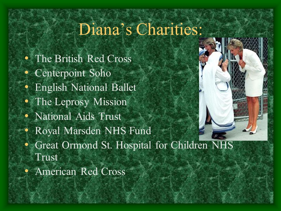 Diana's Charities: The British Red Cross Centerpoint Soho